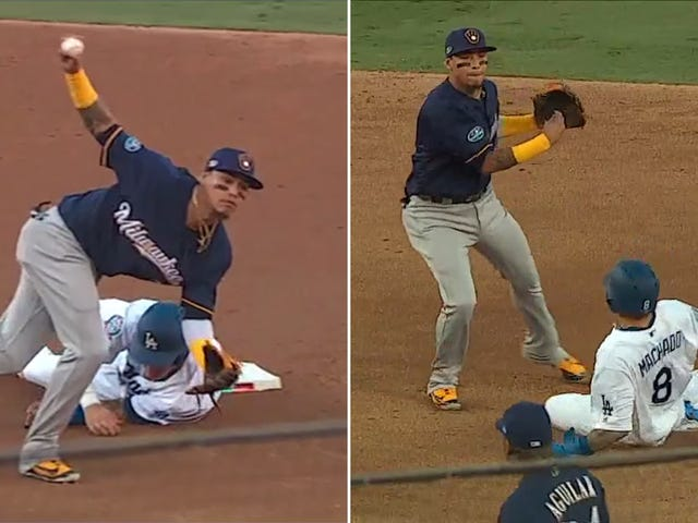 Manny Machado Had Some Questionable Slides Against The Brewers