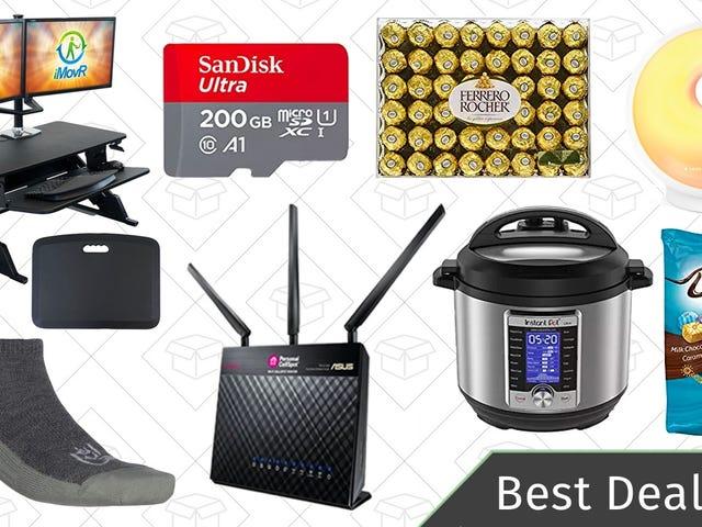 Wednesday's Best Deals: Instant Pot, Standing Desk Riser, Reader-Favorite Router, and More