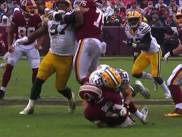 Clay Matthews Was Flagged For Another Weak Roughing The Passer Call