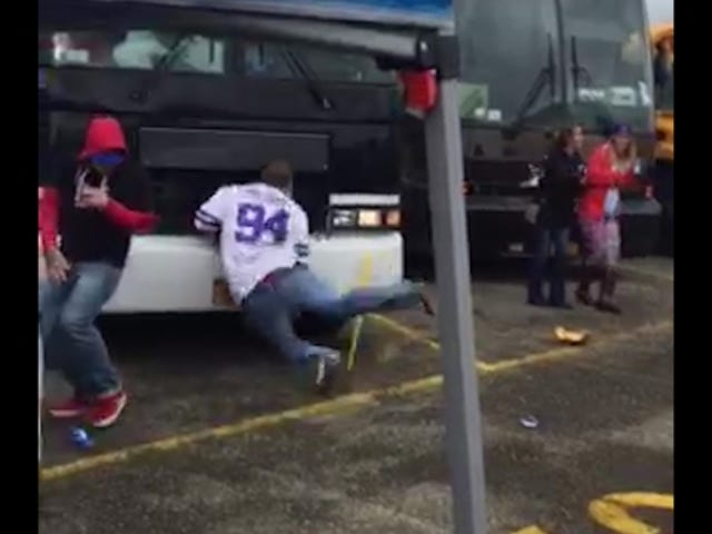 Dizzy Bat Ends Spectacularly For This Bills Fan