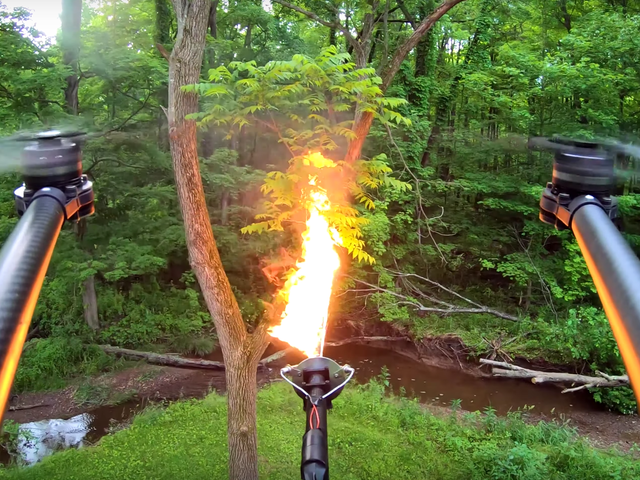 The Flame-Throwing Drone Attachment of Your Nightmares Is Real (And for Sale)