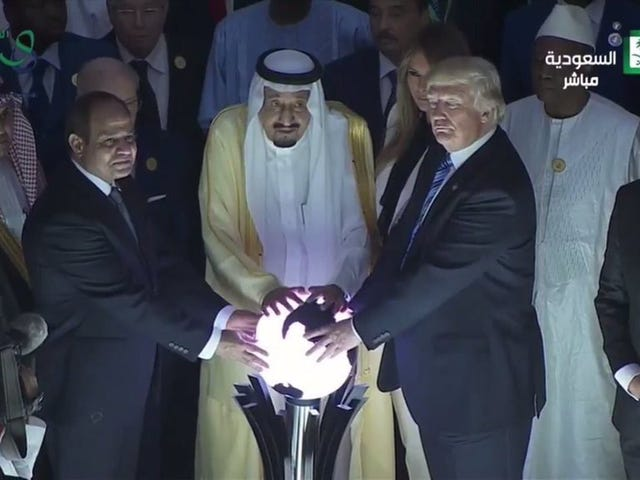Donald Trump Gropes Orb of Power