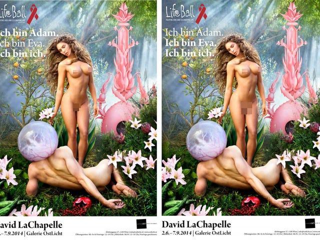 Carmen Carrera Poses as Both Adam and Eve [NSFW]