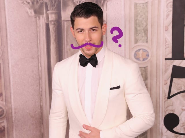 Can You Find Nick Jonas's Mustache?