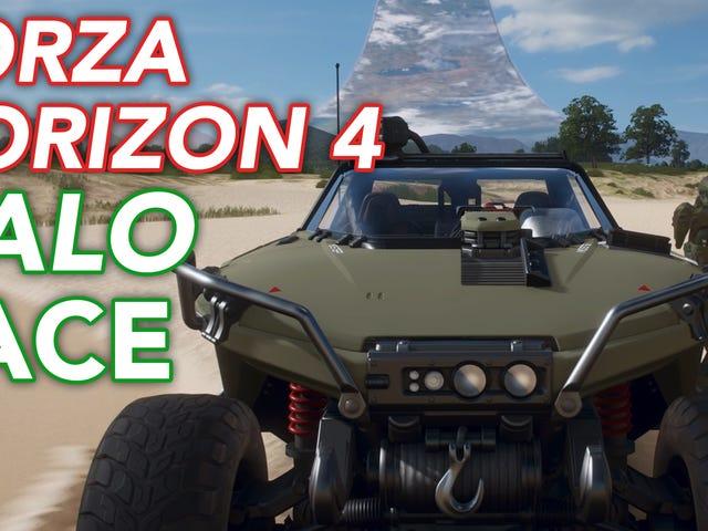 Nós <i>Forza Horizon 4</i> o evento <i>Halo</i> <i>Forza Horizon 4</i>