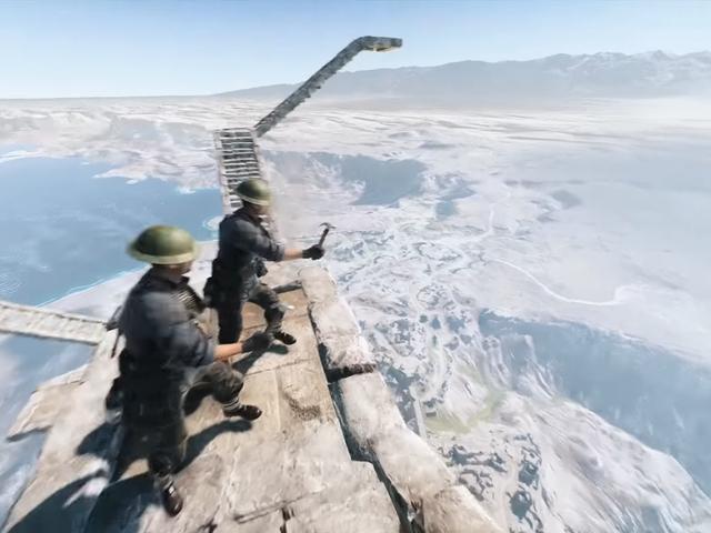 Il nuovo uovo di Pasqua di <i>Battlefield V</i> fa costruire una scala in cielo