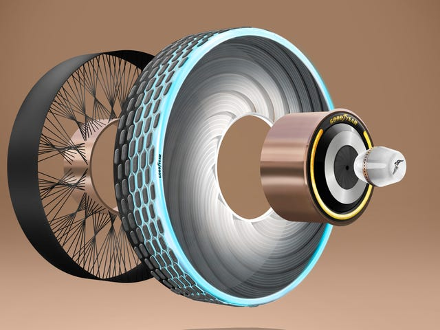 Goodyear's Latest Concept Is A Tire That Can Be Changed Using A Pill
