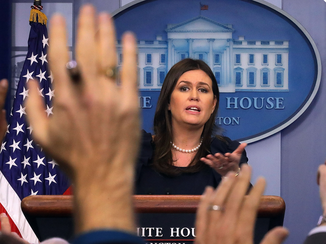The World Is Vast and Wide So Sarah Huckabee Sanders 'Can't Guarantee' There's No Tape of Trump Saying the N-Word