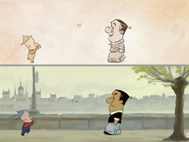 Clever animation shows how we hide our true feelings to the world