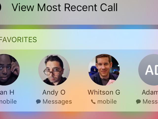 Susun semula Senarai Kegemaran Anda di iPhone untuk Laraskan Siapa Muncul Dalam Pintasan Sentuh 3D 3D Telefon