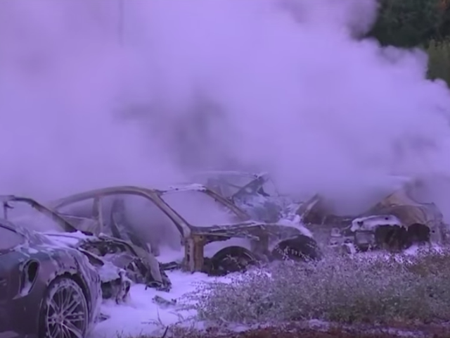 Twelve Porsches Burnt At The Stake In Most Glorious Protest Against Capitalism