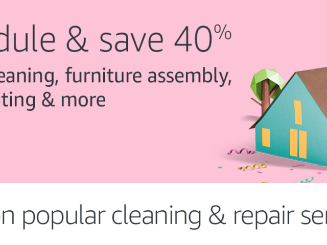 Save 40% On House Cleaning, Yard Work, Home Repairs, and More Booked Through Amazon