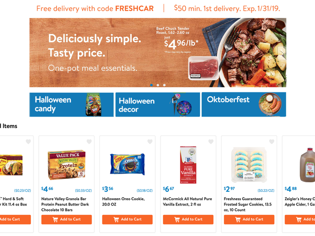Save $10 On Your First Online Grocery Order, With Delivery or Curbside Pickup