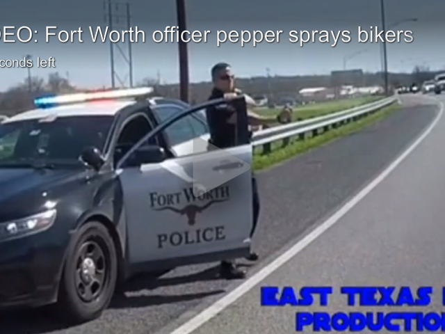 Watch A Cop Allegedly Pepper Spray Passing Motorcyclists For No Apparent Reason