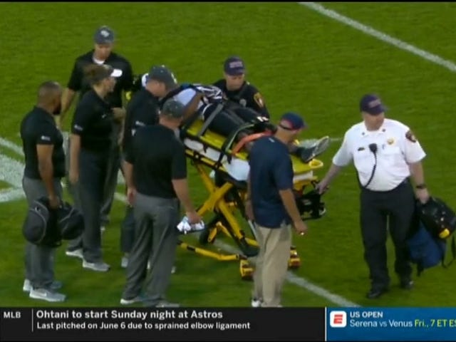 The College Football Season Began With A UCF Player Carried Off On A Stretcher