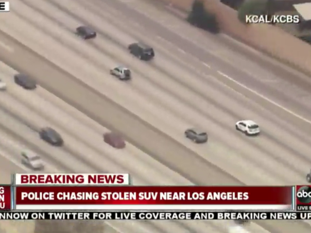 Watch The LAPD Chase A Stolen SUV Live Right Now
