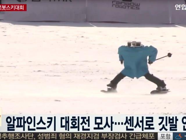 Ces robots Dumbass en pulls sont terribles au ski