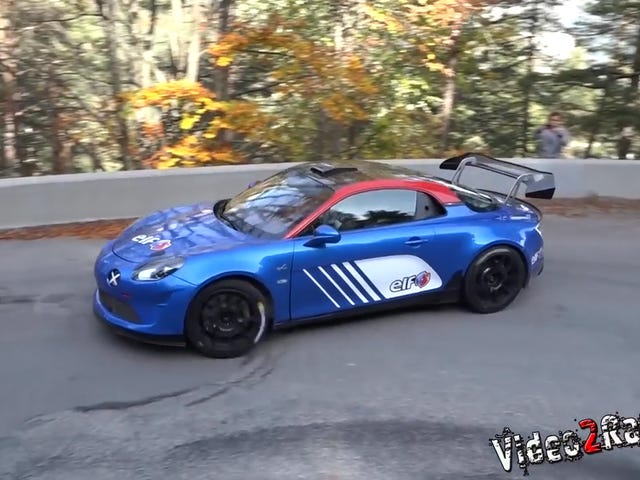 Here Is The Sideways Alpine Rally Car That Shoots Fire