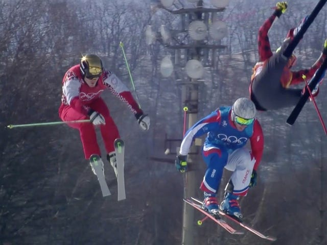 Olympic Ski Racer Taken Away On Stretcher After Nasty Crash