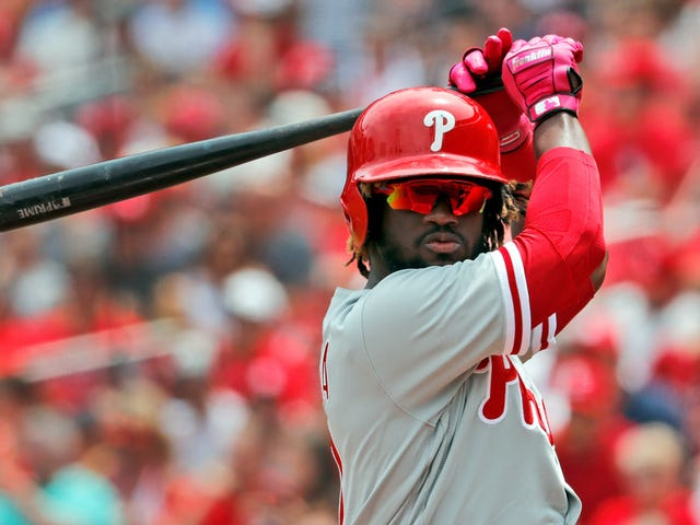 Odubel Herrera's On-Base Streak Ended Even Though He Got On Base