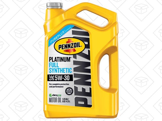 Hurry to Amazon and Get Five Quarts of Synthetic Oil For $8