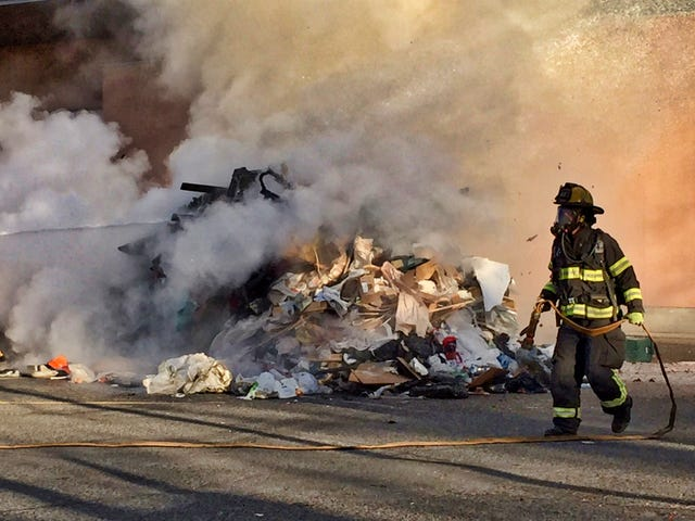 Nothing starts the day like a good old dumpster fire.