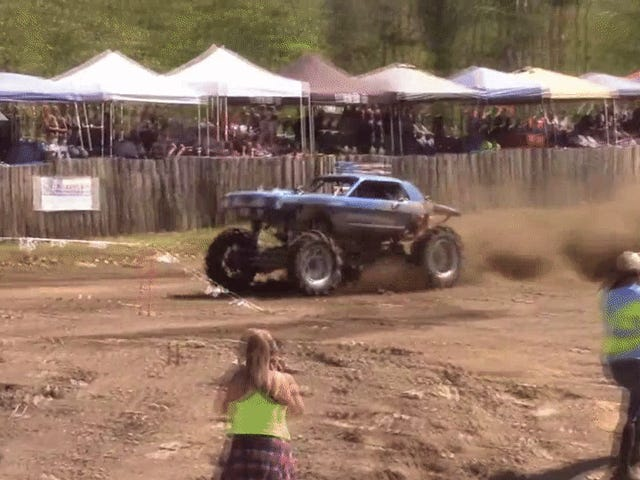 This Vintage Mustang Monster Truck Is Exactly What You Need For Cars And Coffee