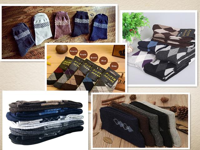 5 Packs of Thick Wool Winter Socks for Men(30% off)