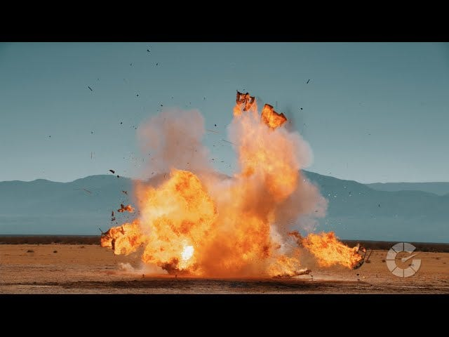 Watch These Cars Blow Up For Some Reason