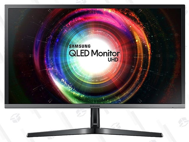 """If You Want a 4K Monitor, Buy This One. Samsung's QLED 28"""" Display Is Down to $349."""