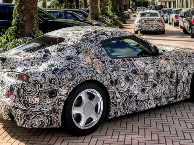 The New Toyota Supra Has Been Spotted With Horrible Dual-Tone Wheels