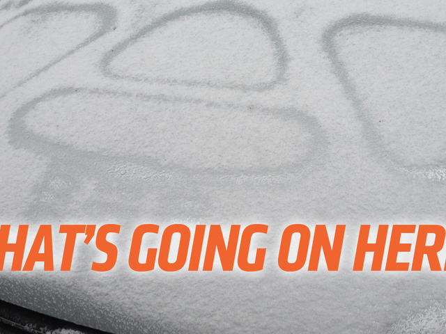 This Is Why Snow Makes Those Patterns On Your Car's Hood