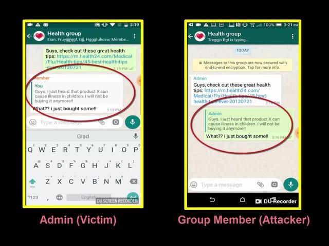 Un fallo de WhatsApp permite alterar el remitente y el contenido de cualquier mensaje usando las citas