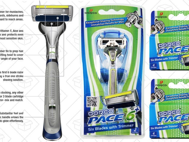 Get a Handle Plus 10 Six-Blade Razor Cartridges For Just $13