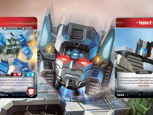 The Transformers Trading Card Game's Fortress Maximus Is Three Bots In One