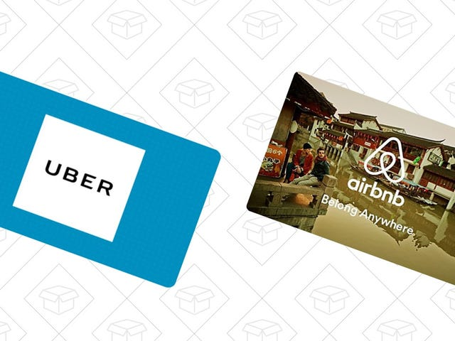 Sharing Economy Special: Save 10% On Ubers or Airbnbs With These Discounted Gift Cards