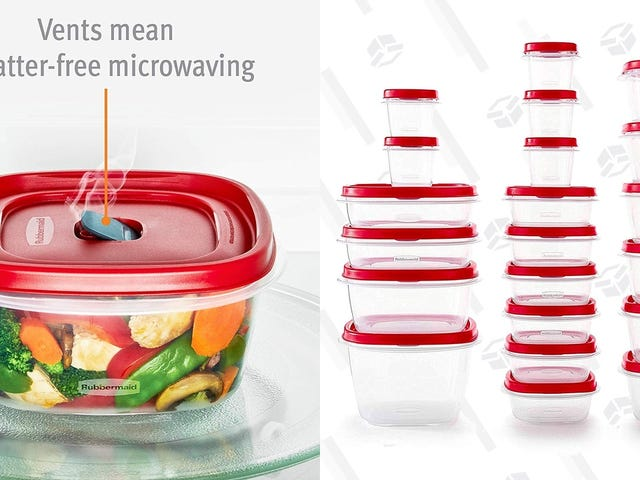 Save On Rubbermaid's Iconic Easy Find Lid Food Storage Set, Now With Vented Lids