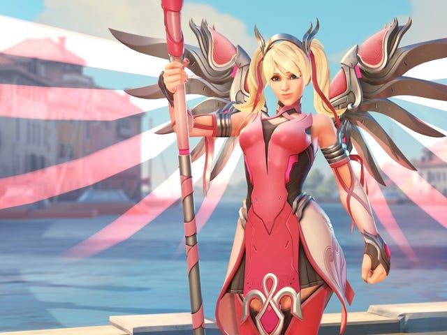 Mercy's New Pink Skin a) Is For Charity And b) Looks Amazing