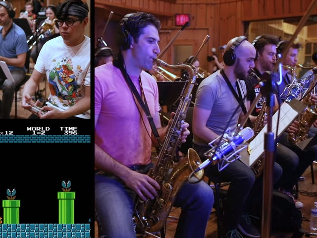 Playing Super Mario Bros. With A Live Band Doing The Soundtrack Behind You Must Be Nice
