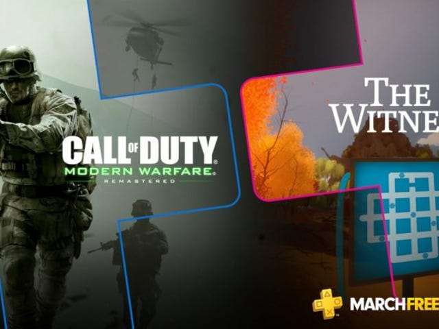 <i>Modern Warfare</i> And<i> The Witness</i> Are The Only PlayStation Plus Games For March
