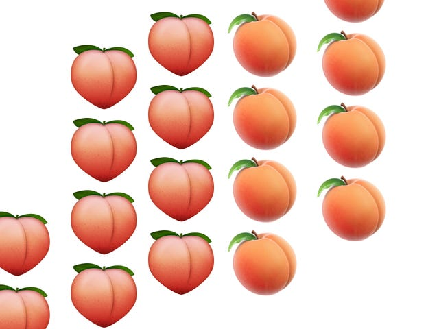Peach Emoji Restored to Natural Beauty After Outcry from Ass Activists