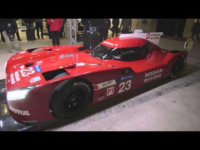 Katso Nissan GT-R LM Nismo purjehtii ja ponnahtaa radan ympärille