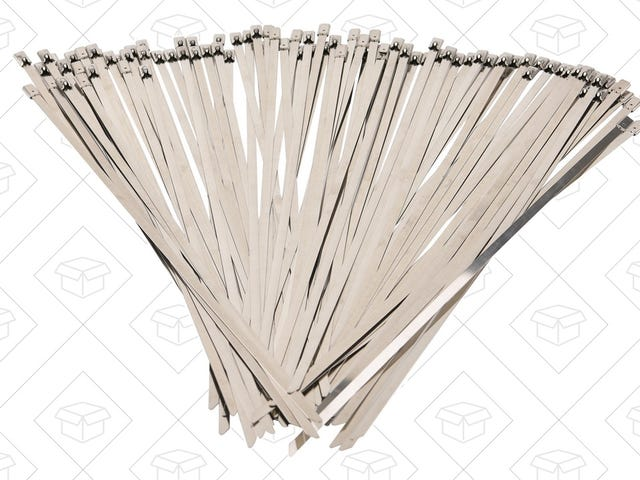 Load Up On Stainless Steel Zip Ties For Under $.11 Each