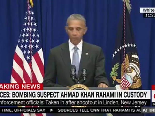 Le président Obama demande aux médias de laisser l'enquête à la police