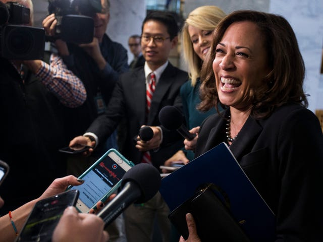 Kamala Harris Doesn't Yet Announce Presidential Run With New Book (but Hints as Subtly as a Semi-Truck)