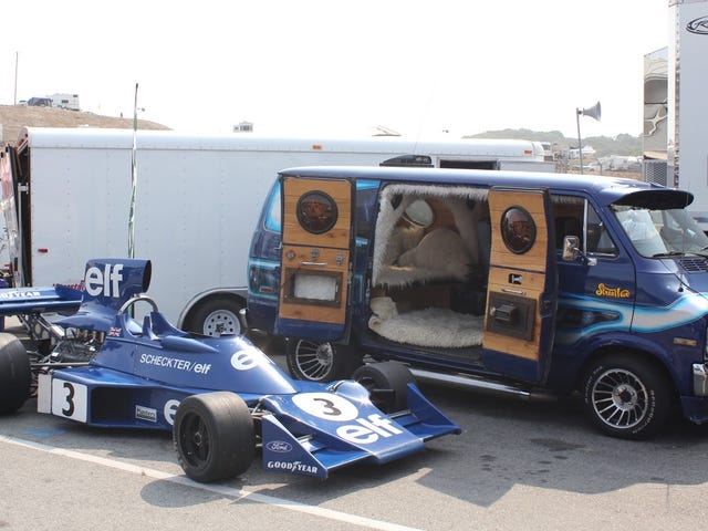 The Coolest Car At The Monterey Motorsports ReunionIs This Custom Van With an F1 Car