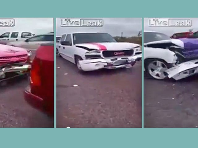 Did <i>Every</i> Lowered Truck In Texas Get Wrecked In This Massive Pile-Up?