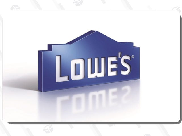 Buy a $100 Lowe's Gift Card For $90 From This Ebay Sale
