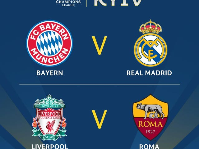 Here Are The Champions League Semifinal Matchups