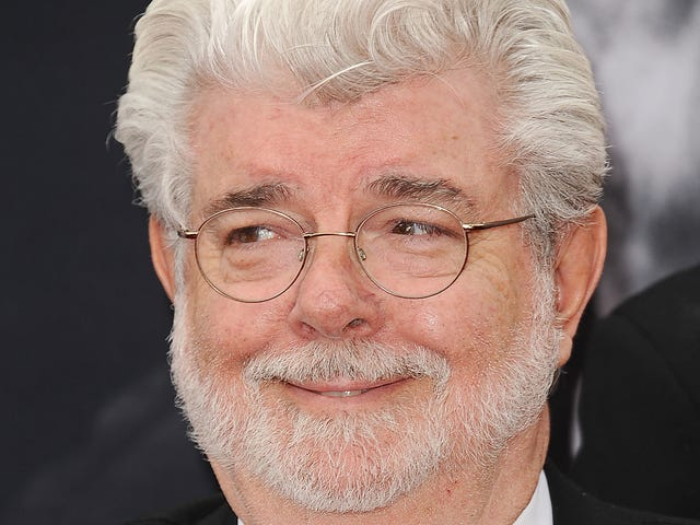 Fine, have a picture of George Lucas gently cradling Baby Yoda in his arms